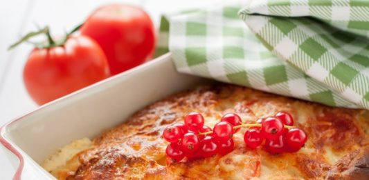 Pastel de macarrones 2 salsas